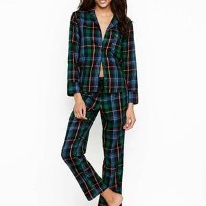 Victoria's Secret Plaid Flannel PJ NWT Sz Small